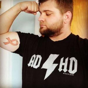 ADHD on a t shirt