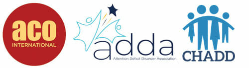 ACO, ADDA, CHADD for ADHD