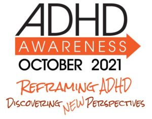 ADHDAwareness Month with theme square