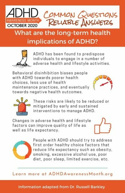 Infographic ADHD Health Implications