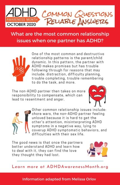 infographic ADHD relationship issues