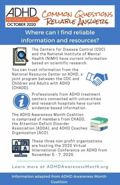 infographic adhd resources