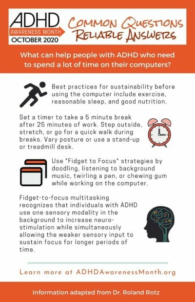 Infographic ADHD and screens