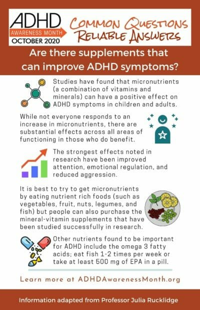 Infographic ADHD Suppliments