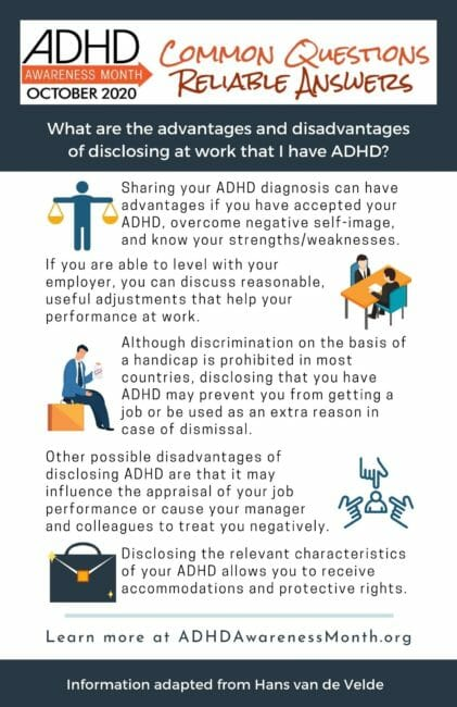Infographic Disclosing ADHD at Work