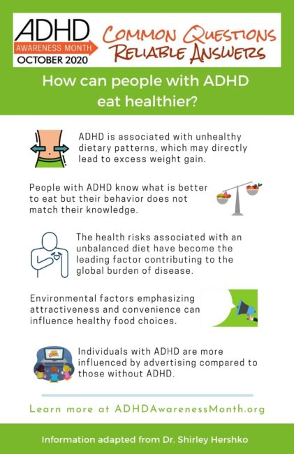infographic eat healthy adhd