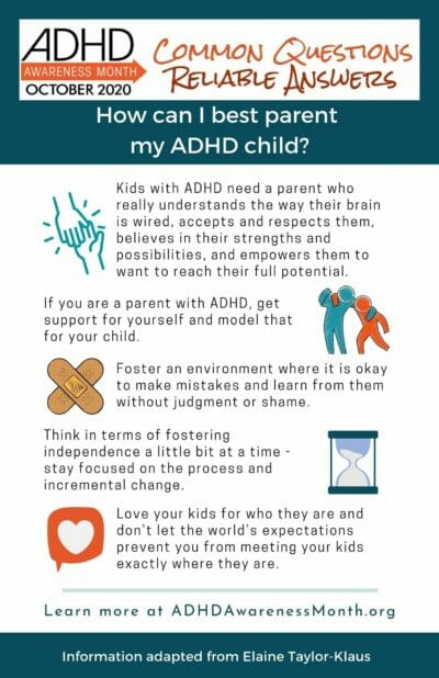 infographic parenting adhd child