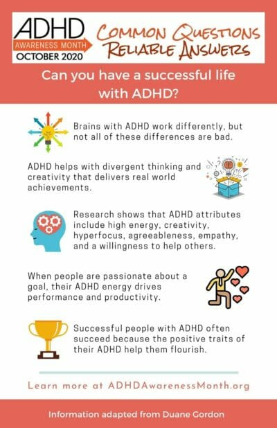 infographic success with adhd