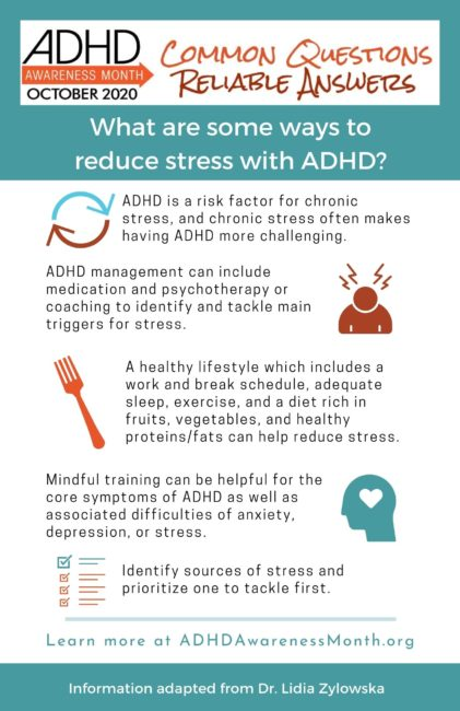 Infographic What are sme ways to reduce stress with ADHD