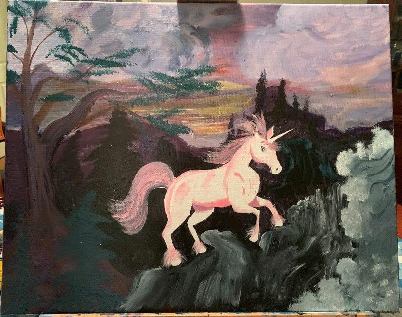 Pink Unicorn by Eric Brazos